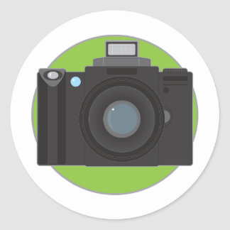 Camera Classic Round Sticker