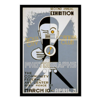 Camera Club, 1939. Vintage Photography Poster