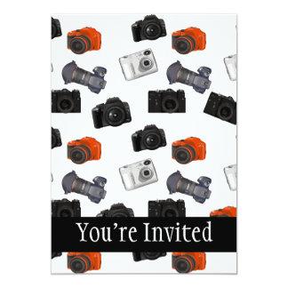 Camera Collage On White 5x7 Paper Invitation Card