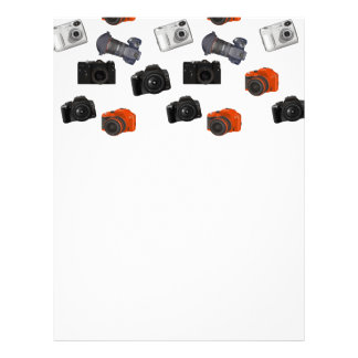 Camera Collage On White Letterhead