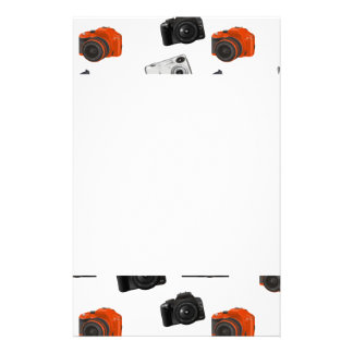 Camera Collage On White Stationery