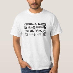 Camera Display Photography Symbols T Shirt