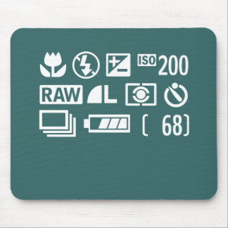 Camera Display Symbols Mouse Pad