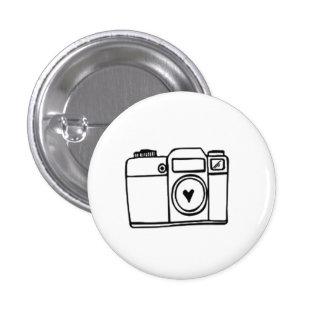 Camera Doodle Pinback Button