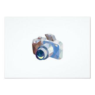 Camera DSLR Low Polygon 5x7 Paper Invitation Card
