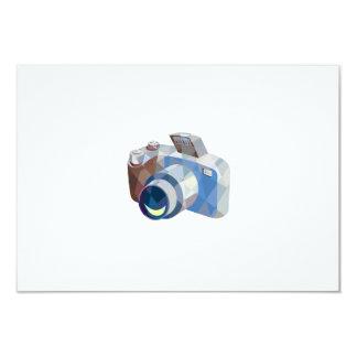 Camera DSLR Low Polygon 3.5x5 Paper Invitation Card