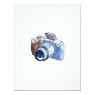 Camera DSLR Low Polygon 4.25x5.5 Paper Invitation Card