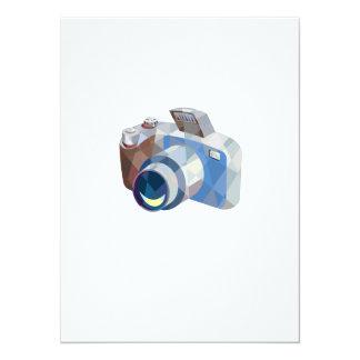 Camera DSLR Low Polygon 5.5x7.5 Paper Invitation Card