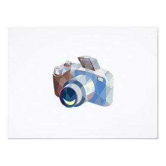 Camera DSLR Low Polygon 6.5x8.75 Paper Invitation Card