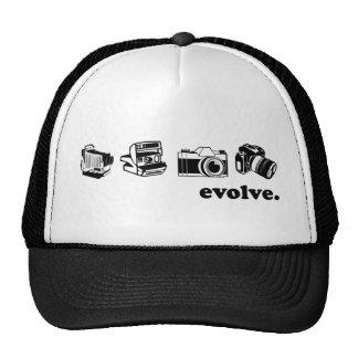 Camera evolution trucker hat