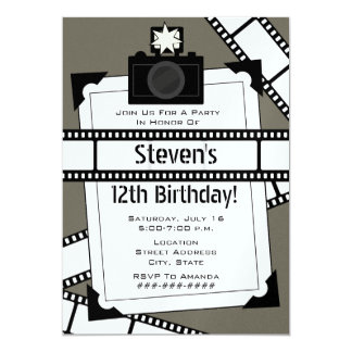 Camera Film and Photo Birthday Party Invite