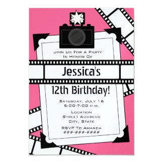 Camera Film and Photo Birthday Party Invite