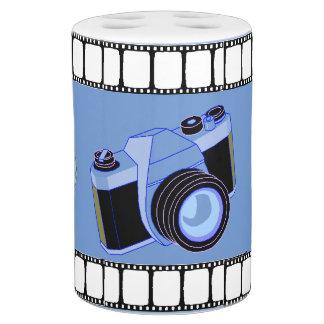 Camera & Film Toothbrush Holder & Soap Pump Set