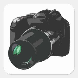 camera fotografica adesivo quadrado