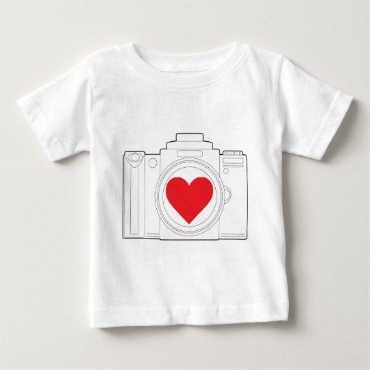 Camera Heart Baby T-Shirt