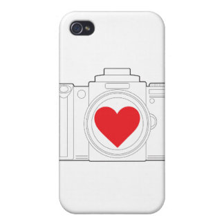 Camera Heart iPhone 4 Cover
