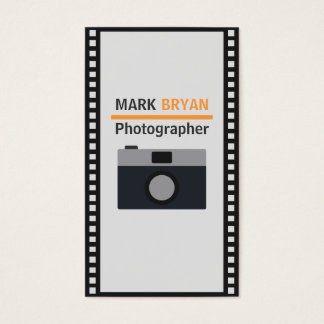 Camera Icon with Film Strip for Photographer Business Card