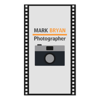 Camera Icon with Film Strip for Photographer Double-Sided Standard Business Cards (Pack Of 100)