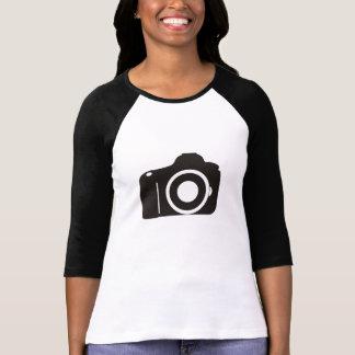 Camera Ladies 3/4 Sleeve Raglan (Fitted) T-Shirt