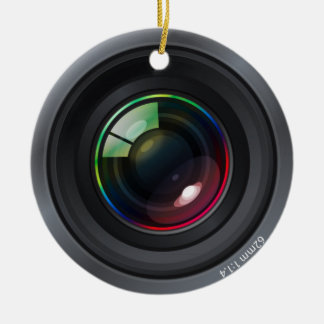 Camera Lens - Add your photo Ceramic Ornament