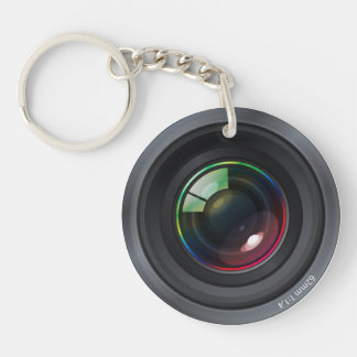 Camera Lens - Add your photo Double-Sided Round Acrylic Keychain