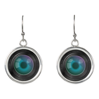 Camera Lens Earrings - Photography Jewelry