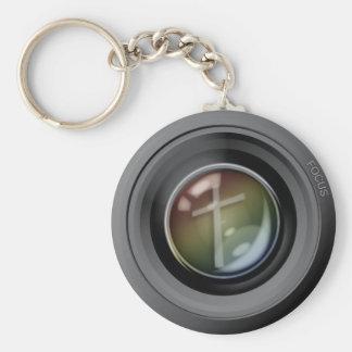 Camera Lens Keychain. Focus on Jesus. Keychain