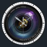 """Camera Lens Large Clock<br><div class=""""desc"""">Beautiful Camera Lens Clock</div>"""