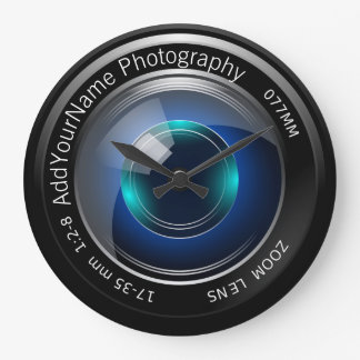 Camera Lens Personalized Large Clock