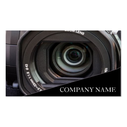 Camera Lens graphy Double Sided Standard Business