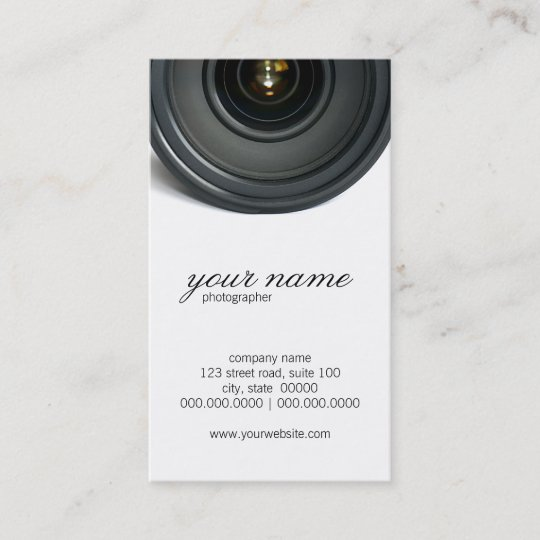 camera lens photography business cards