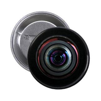 Camera Lens Pinback Button