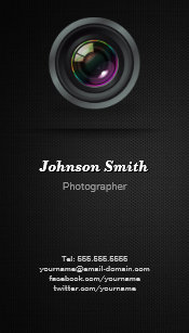 Commercial photographer business cards zazzle camera lens show your best photo on the back business card colourmoves