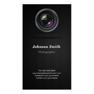 Camera Lens - Show Your Best Photo on the Back Business Card