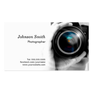 Camera Lens - Showcase Your Best Work on the Back Business Cards