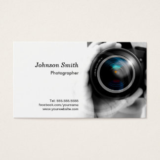 Camera Lens - Showcase Your Best Work on the Back Business Card
