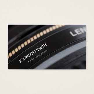 Camera Lens Store - Black and White Photographer Business Card