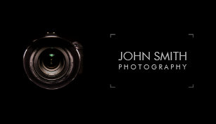 Photography business cards zazzle camera lens viewfinder black photography business card colourmoves