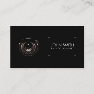 photographer camera lens aurora photography business card zazzlecom - Photography Business Card
