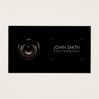 Camera Lens Viewfinder Black Photography Business Card