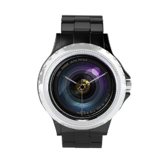 Camera Lens Wrist Watches