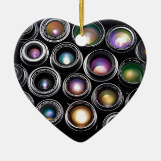 Camera Lenses Ceramic Ornament