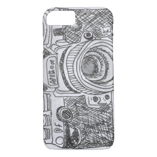 Camera Line Drawing iPhone 7 Case