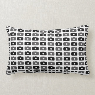 Camera Love (Black and Gray) Throw Pillow