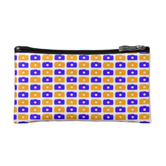 Camera Love (Blue and Orange) Cosmetics Bags
