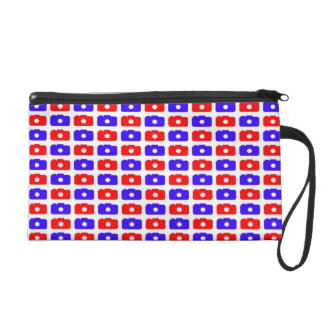 Camera Love (Blue and Red) Wristlet Clutches