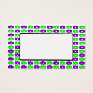 Camera Love Business Card Purple & Green