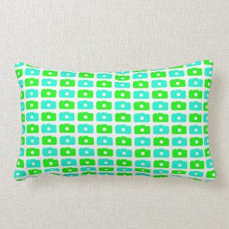 Camera Love (Green & Cyan) Pillow