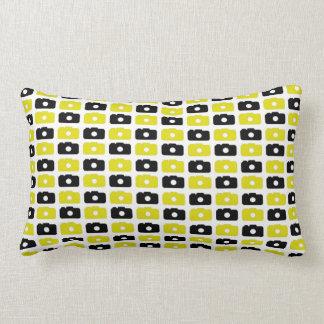Camera Love Lumbar Pillow (Black and Yellow)