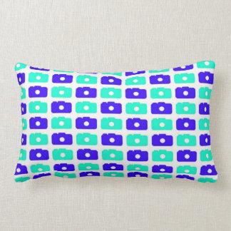 Camera Love Lumbar Pillow (Blue)